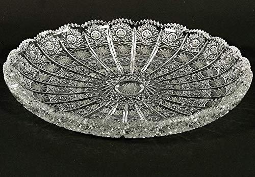 Bohemian Cut Glass - Czech Bohemian Crystal Glass Plate 11