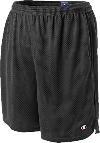 Champion Long Mesh Men's Shorts with Pockets (L, Black)