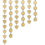 240 Pieces Wooden Tags, Bantoye 60 Pcs Wooden Discs 60 Pcs Wooden Heart Tags with Holes 120 Pcs S Hook Connectors, Great for Artcrafts Ornaments