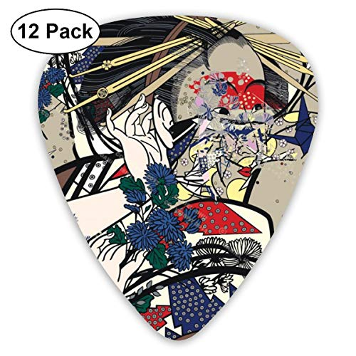 V5DGFJH.B Spirit of A Woman with White Crane Classic Guitar Pick Player's Pack for Electric Guitar,Acoustic Guitar,Mandolin,Guitar Bass -