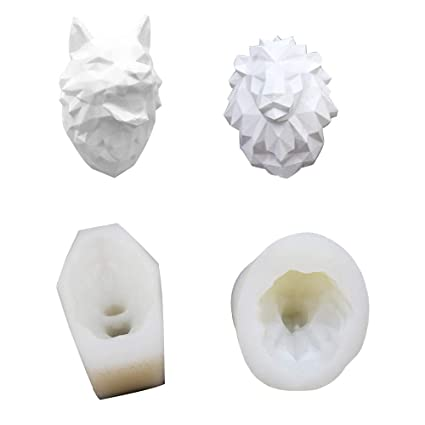 3D Moldes Silicona de Grado Alimenticio para Resina Yeso Jabón Fondant Horneado Velas Salidas de Aire
