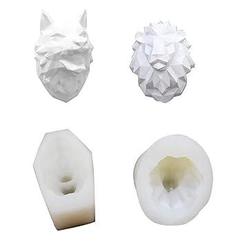 3D Moldes Silicona de Grado Alimenticio para Resina Yeso Jabón Fondant Horneado Velas Salidas de Aire para Autos Arcilla Llavero Colgantes Decoraciones ...