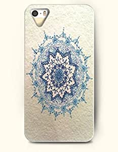 OOFIT Apple iPhone 4 4S Case Moroccan Pattern ( a Beautiful Blue Flower )