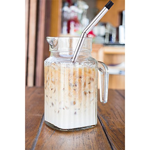 Rommeka Foldable Flexible Nontoxic Straw,Eco-Friendly,BPA Free,Reusable,Healthy,Portable,Unbreakable,Washable,Zero-Waste Premium Stainless Steel Drinking Straws,No Metal Aftertaste & 1 Travel Cases by Rommeka (Image #8)