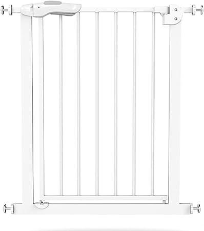 Barrera seguridad Puertas Extra Altas y Anchas para bebés: Puerta de Metal Blanco para bebés, Parte Superior de Las escaleras, Montaje en herrajes, Ancho 82-200cm Barandilla Resistente a los Golpes: Amazon.es: Hogar