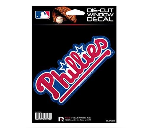 MLB Phillies Bling Medium Die Cut Decal, 9 x 5