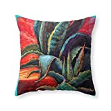 Home Decoration Southwest-Western Style Desert Agave in Sunrise Throw Pillow Indoor Cover (18'' x 18'') Two-Side Printed