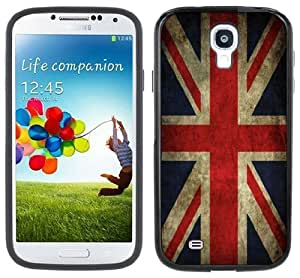 Union Jack UK United Kingdom Flag Samsung Galaxy S4 Black Bumper Hard Plastic Case