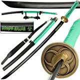 Japanese Zombie Killer 1045 High Carbon Steel Full Tang Katana Sword FREE Table Stand