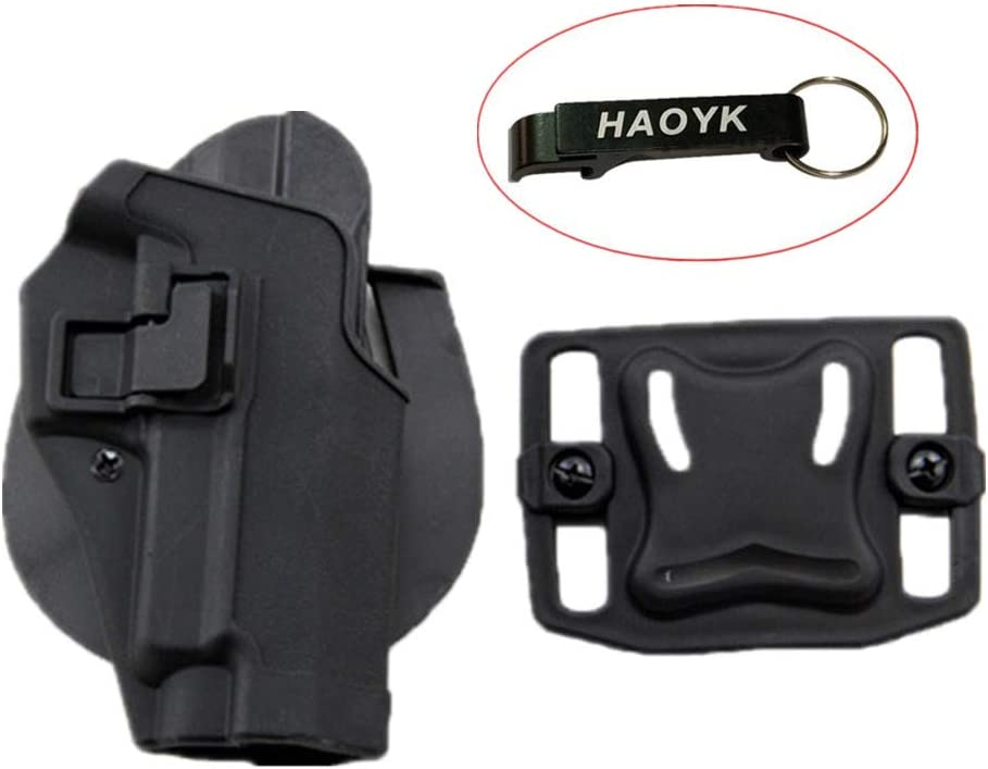haoYK Tactical Airsoft Pistola Oculta Draw Rightded Paddle Cintura Cinturón Holster Bolsa Sig Sauer P226 P228 P229 - Llavero Incluido