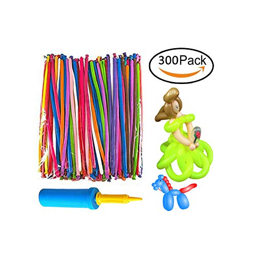 Maylai Balloon Animals Kit 260Q Twisting Balloons with Pump 300 Pack of Latex Long Balloons for Party Birthday Decoration by Maylai
