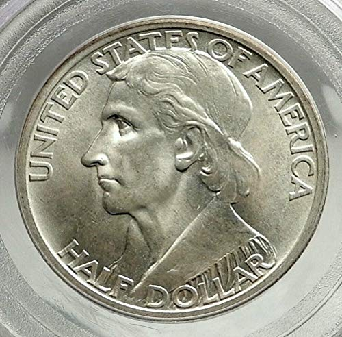 - 1934 1934 DANIEL BOONE 200th Commemorative US AR Half coin MS 65 PCGS
