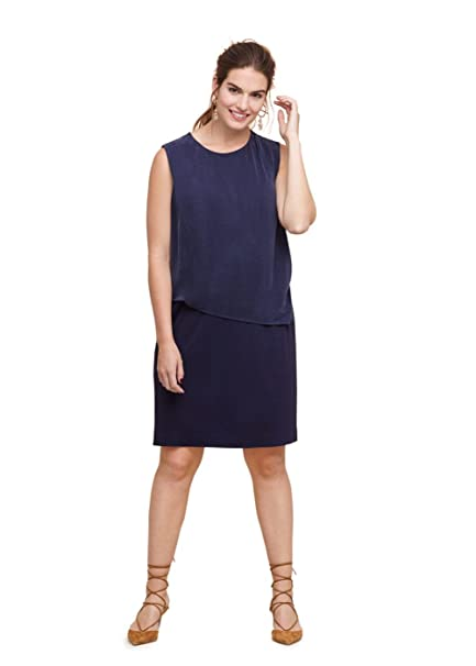 Vestido azul marino mango