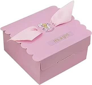 50 cajas de cartón con osito para nacimiento y bautizo de niño ROSA: Amazon.es: Juguetes y juegos