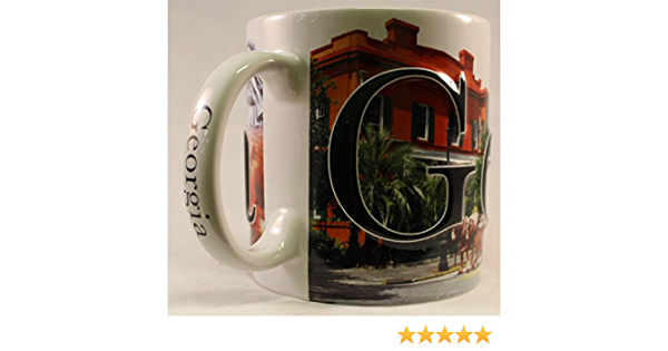 NCAA Georgia Bulldogs 15 oz Ceramic Coffee Mug with Metallic Graphics 19