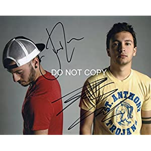 Twenty One Pilots band reprint signed promo 11×14 poster photo by both B – RP