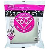 Hario V60 Misarashi Coffee Paper Filter (Size 02, 100 Count, White)