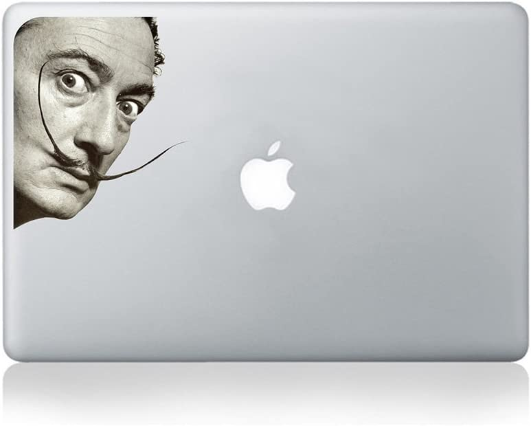 Salvador Dali Staring Vinyl Sticker for MacBook (13-inch MacBook and 15-inch MacBook) / Laptop/Guitar
