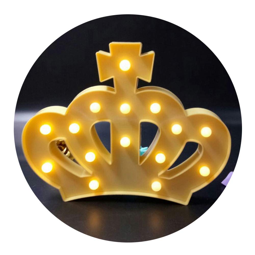 Amazon.com: QiaoFei 3D Crown Marquee Sign Light,LED Queen Princess ...