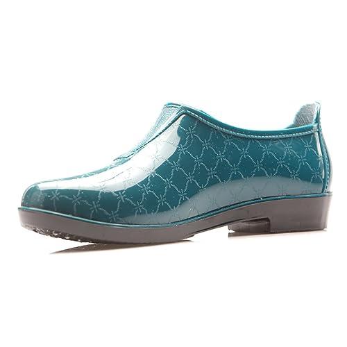 Botas de Lluvia para Mujer, Botines Antideslizantes, Zapatos de Agua de Moda, chanclos Casuales, Botas Impermeables Antideslizantes: Amazon.es: Zapatos y ...