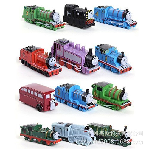 New 2015 12pcs/lot Thomas Mini Trains Figure Toys Thomas and His Friends Children's Educational Trains Toys by (Deluxe Thomas And Engineer Costume)