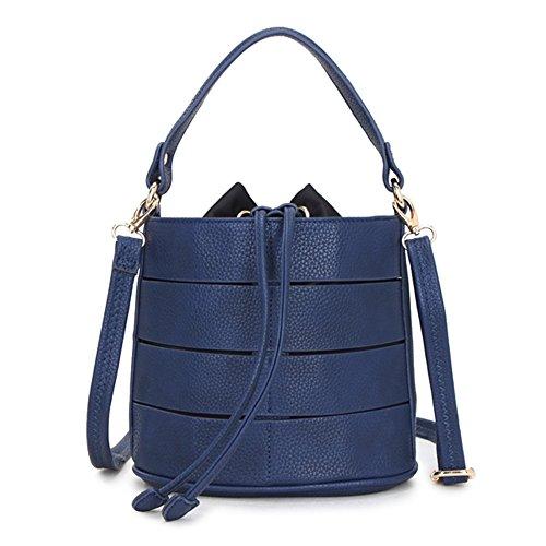 Damen Schultertasche Bucket Bag PU Leder Umhängetaschen große Shopper Tasche