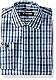 Stacy Adams Mens Multi Color Gingham Classic Fit Dress Shirt