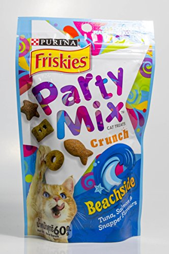 Bites Red Meat Formula (Friskies Party Mix Crunch Cat Treats - Beachside 60 g (2.1 OZ), Pack of)