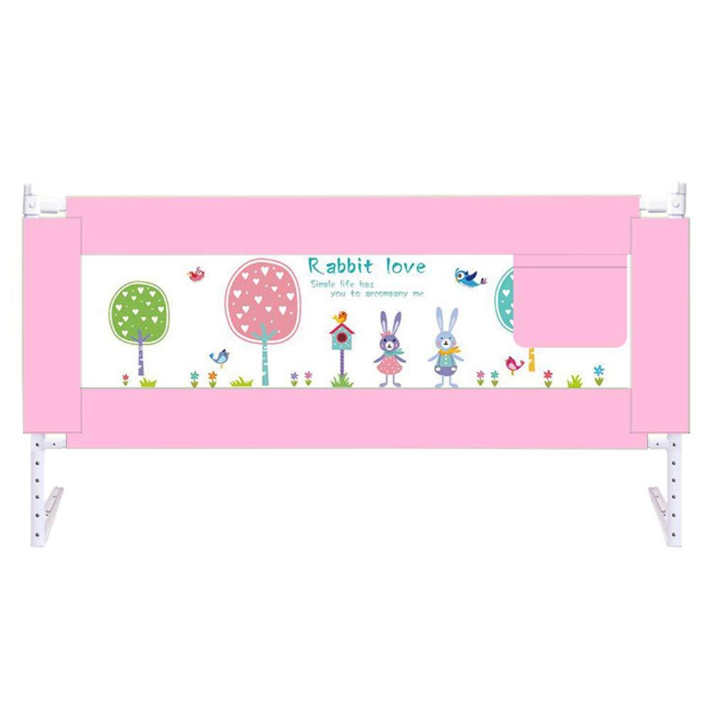 【送料無料キャンペーン?】 ベッドガードレール、ベビーベッドサイドフェンスフェンスフェンス子供の幼児ガードレール垂直持ち上げ赤ちゃんの子供ベッドレール6ギア調整90cm 200 B07JJX2N4F*90cm pink pink B07JJX2N4F, Flying Saucer:0b82b183 --- a0267596.xsph.ru
