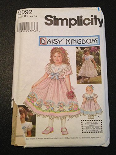 Simplicity 9092 Sewing Pattern, Daisy Kingdom Child's for sale  Delivered anywhere in USA
