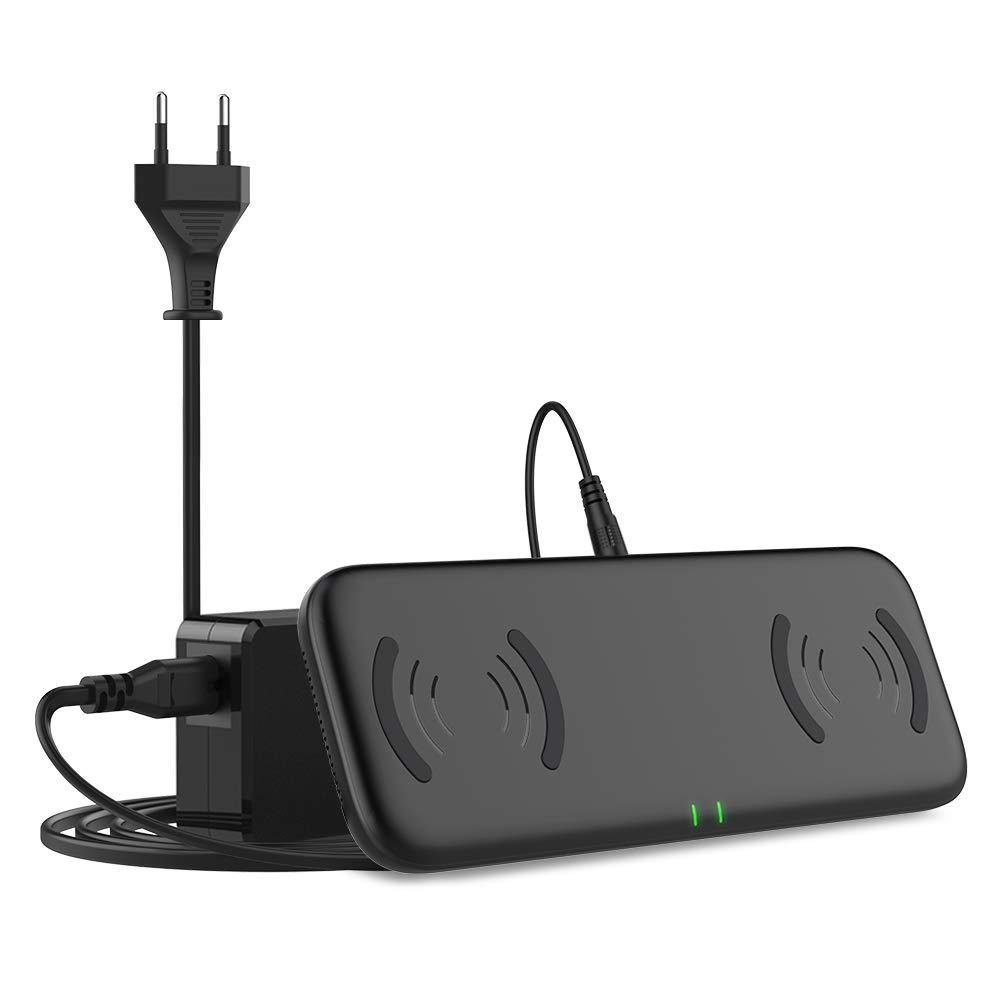 YOOTECH Dual Fast Wireless Charger mit L/üftung,7.5W induktiv Ladestation f/ür iPhone XS MAX//XR//XS//X//8//8 Plus 10W QI Induktions Ladeger/ät f/ür Galaxy S10+//S10//S10e//Note 9//S9//S9 Plus//Note 8//S8//S8 Plus//S7