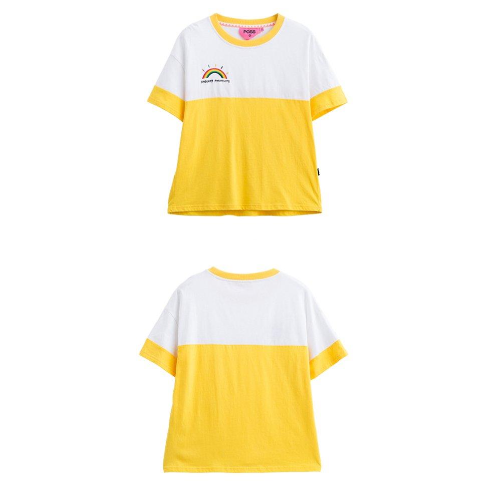 DYY Camisa de Corbata Blanca de Color de Contraste Flojo de Verano ...