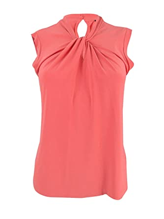 edaef4992e3965 Image Unavailable. Image not available for. Color  Tommy Hilfiger Womens  Sleeveless Crewneck Blouse ...