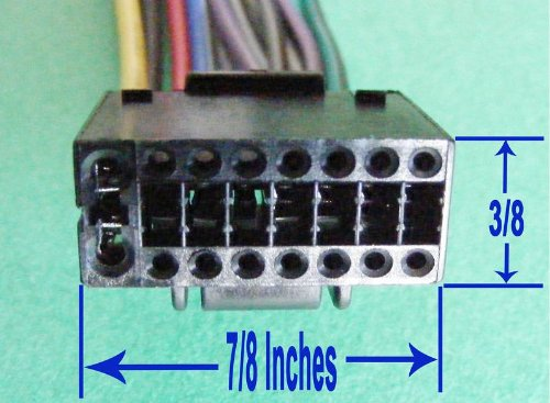 Amazon.com: Kenwood Car Stereo Head Unit Replacement Wiring Harness on jvc car stereo wiring harness, kenwood 16 pin connector, kenwood car stereo wire harness, kenwood kdc mp342u wiring harness,