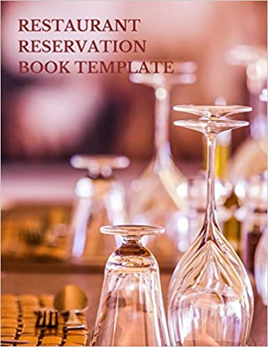restaurant reservation book template fill in the date 8 5 inches by
