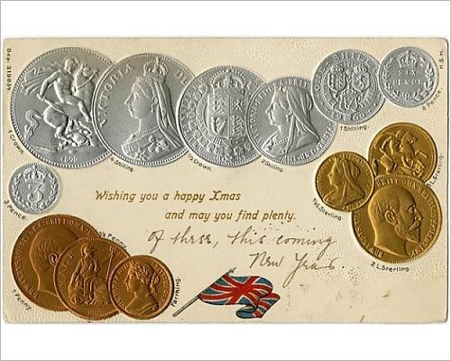 10x8 Print of Pre-decimalisation British coinage - Victoria and Edward VII (14351430)
