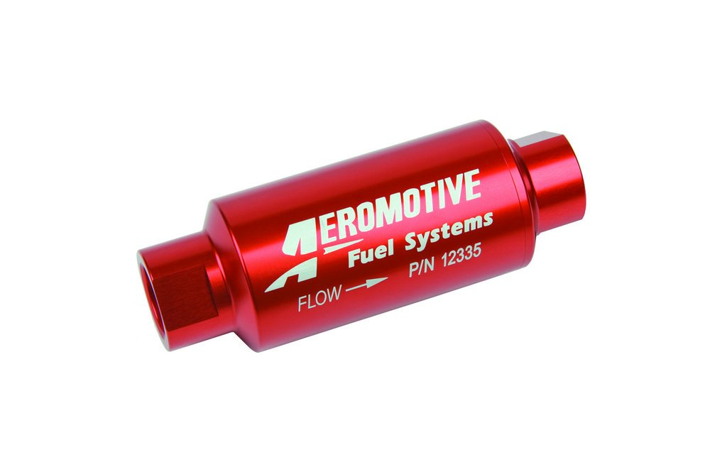 Aeromotive 12335 40 Micron ORB-10 Red Fuel Filter