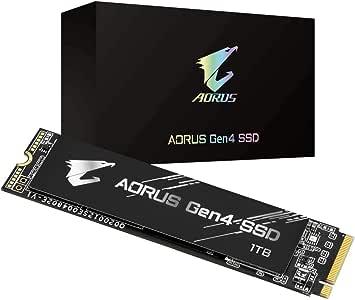 Gigabyte AORUS NVMe Gen4 M.2 1TB PCI-Express 4.0 Interface High Performance Gaming, 3D TLC NAND, External DDR Cache Buffer, SSD GP-AG41TB