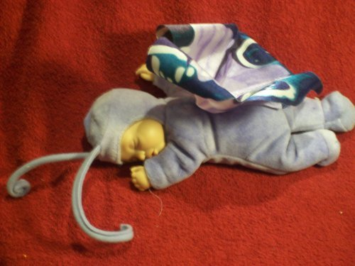 Plush Toy - Anne Geddes - Sleeping Baby With Butterfly Wings Various Blues Stuffed -