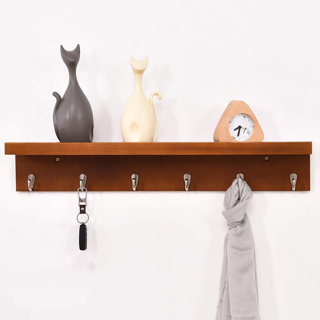 Amazon.com: Coat Hook Wall Rack Wall Mounted Unit Solid Wood ...