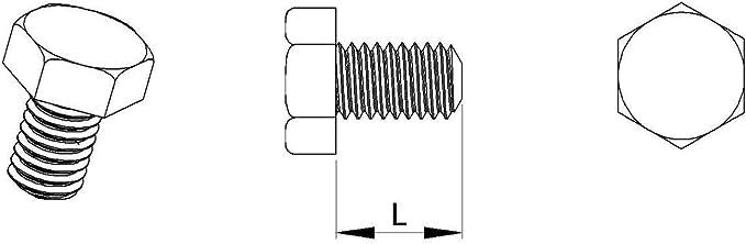 Vis boulon hexagonale nylon diam 20 pi/èces M5 clef de 8 mm longueur L = 40 mm plastique polyamide PA6.6 isolant ajile