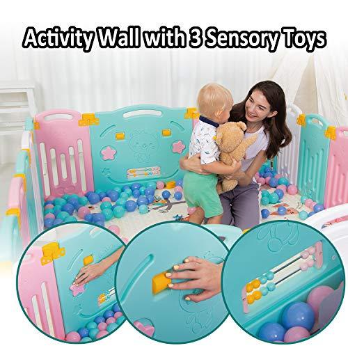 Uanlauo Foldable Kids Safety Play Yard