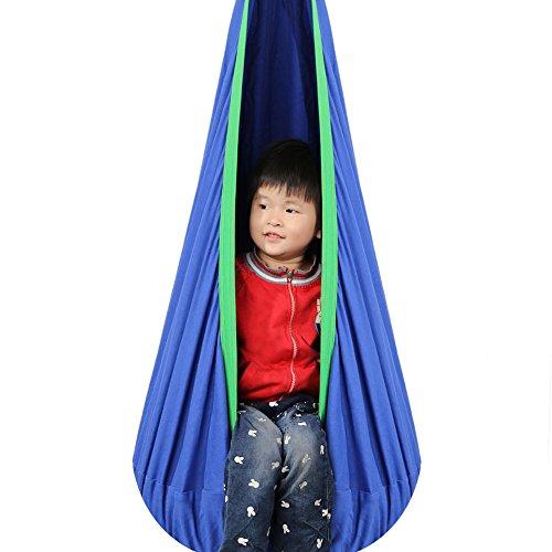 Pellor Hanging Seat Hammock Swing New Complete Set Kids Therapeutic Deep Blue
