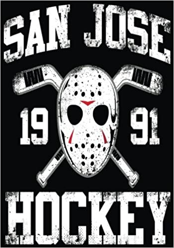 San Jose 1991 Hockey: Hockey Books For Kids, Journal & Personal Stats Tracker, 100 Games, 7 x 10