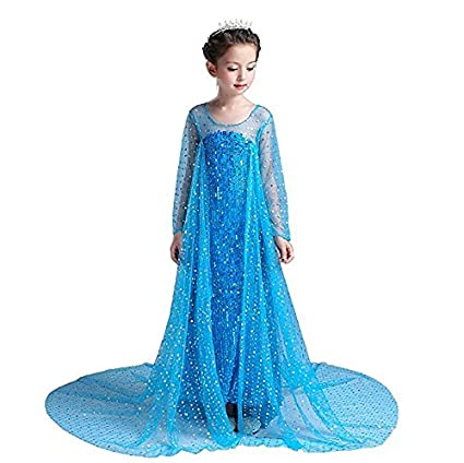 BABY AND BLOSSOMS Frozen Elsa Blue Dress Up Costume-(7-9Years)  sc 1 st  Amazon.in & Buy BABY AND BLOSSOMS Frozen Elsa Blue Dress Up Costume-(7-9Years ...