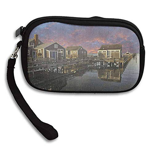 United States Women's Purse Sunset over Nantucket Massachusetts Dramatic Sky Clouds Pond Houses W 5.9