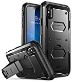 i-Blason Case for iPhone Xs Max 2018 Release, [Built in Screen Protector][Armorbox] Full Body Heavy Duty Protection Kickstand Shock Reduction Case (Black), 6.5 Larger Image