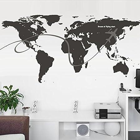 Zcj world map wall decal pvc material wall art removable sticker zcj world map wall decal pvc material wall art removable sticker home and office gumiabroncs Choice Image