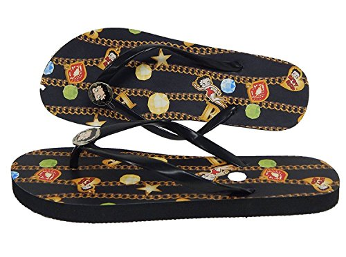 Fourever Funky Betty Boop Slipper Sandalen Met Teenslippers Voor Veganistische Dames