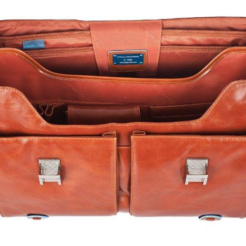 PIQUADRO BLUE SQUARE Cartella Porta PC e documenti in Vera Pelle Arancione CA1068B2/AR